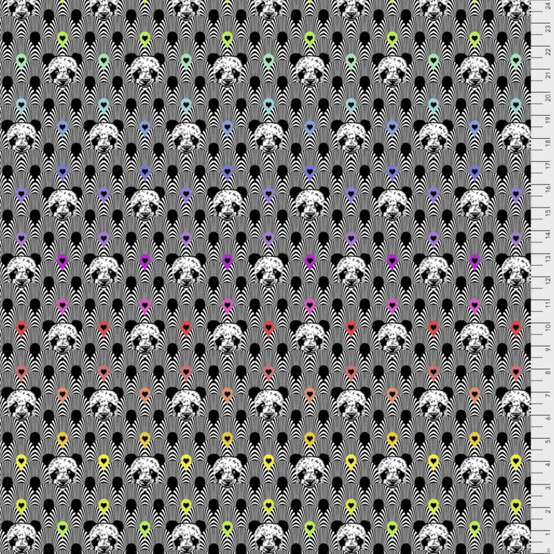 Pandamonium - Ink - PWTP153 - Tula Pink