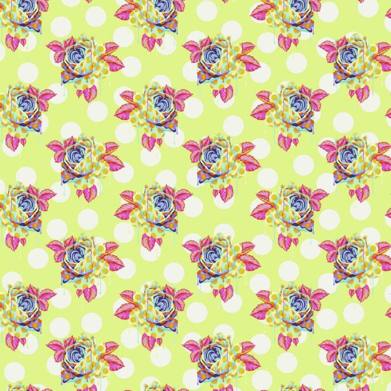 Painted Roses - Sugar - PWTP161 - Tula Pink
