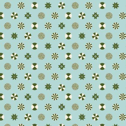 Peppermint Stars - Pine Fresh -PWTP108 - Tula Pink -