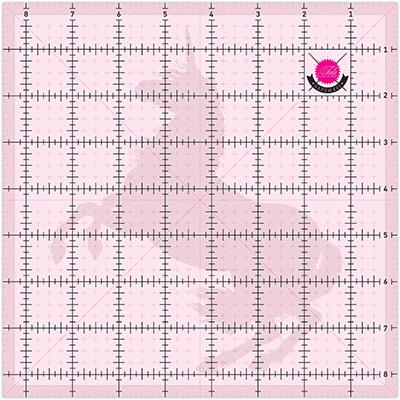 Liniaal Unicorn - vierkant 8 ½ inch - Tula Pink