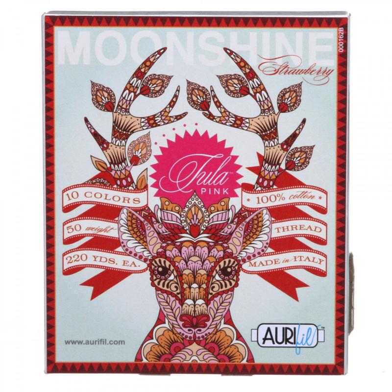 Aurifil - Moonshine  Strawberry - 50 w Tula Pink