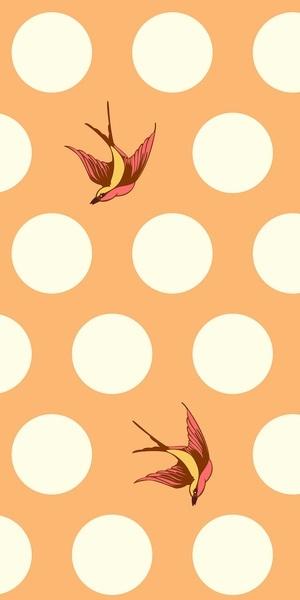 Tula Pink - Free Fall - creamsicle
