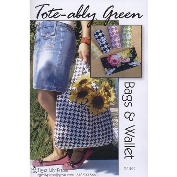 Tote - ably Green Bags and Wallet, Tiger Lily Press