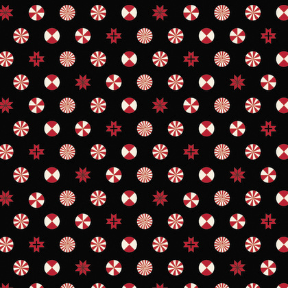 Peppermint Stars - Ink - PWTP108 - Tula Pink -