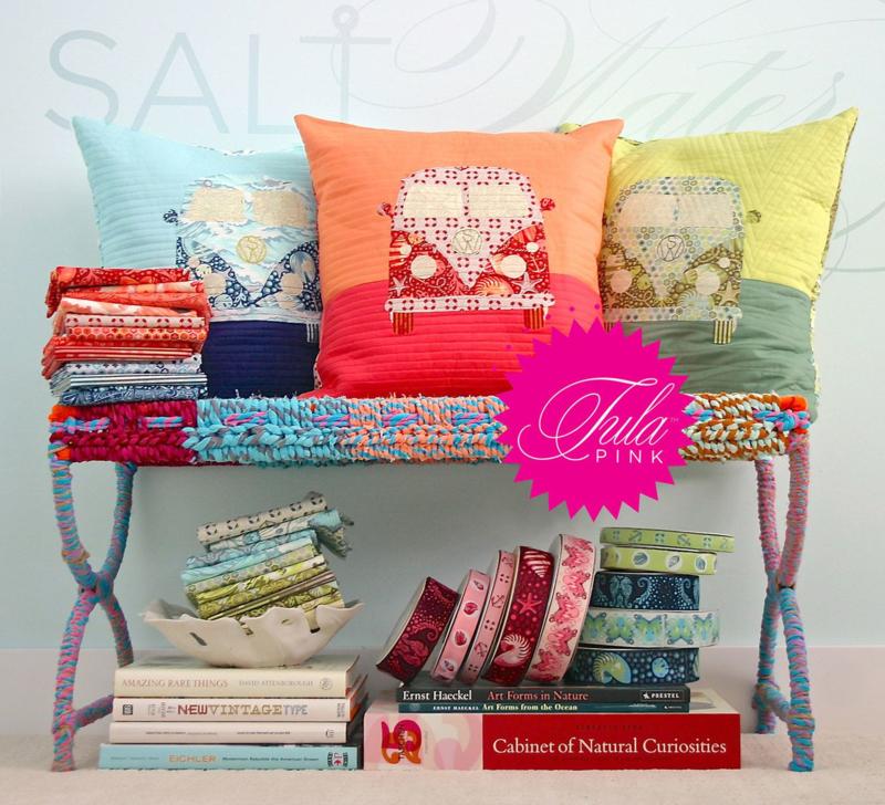 Coastal Cruiser Throw Pillow - Salt Water - Tula Pink