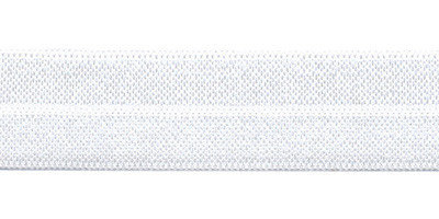 Fold-over Elastic - 20 mm - wit