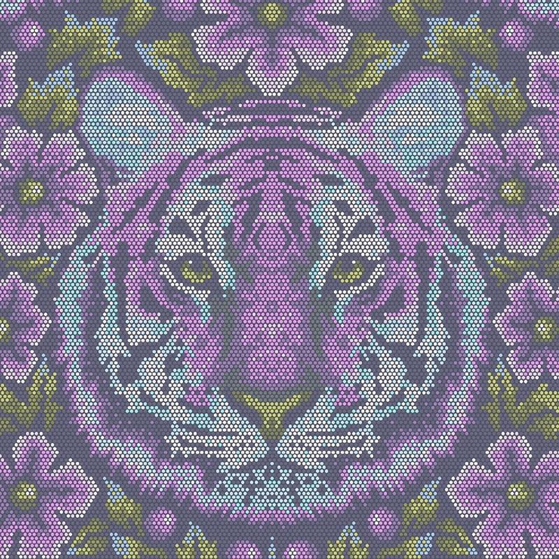 Tula Pink - PWTP077 - Crouchin Tiger Amethyst