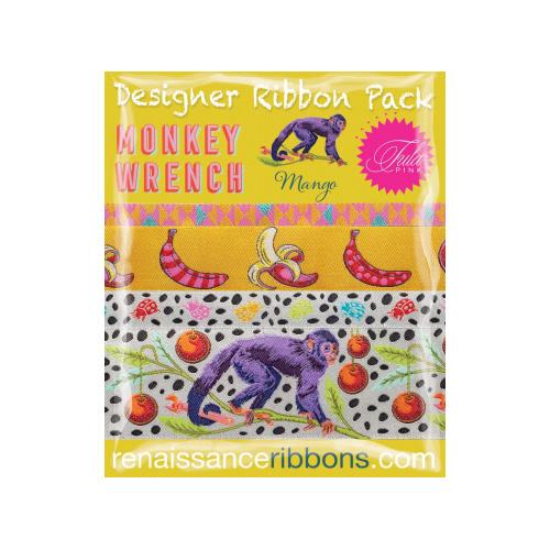Monkey Wrench - Mango - Ribbon Pack - 4 yards