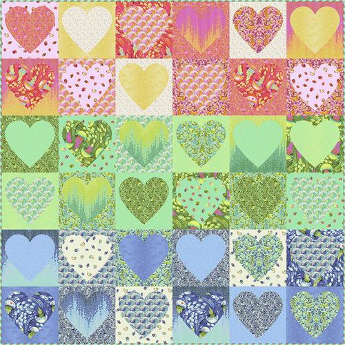 Faded Hearts - Zuma - Tula Pink
