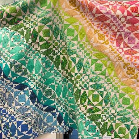 Rainbow - Waves Quilt - Zuma - Tula Pink