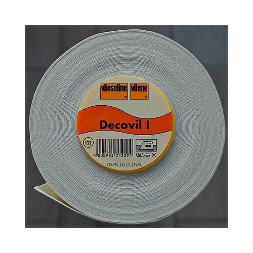 Decovil 1, GEVOUWEN VERZONDEN  plakbare leerachtige versteviger, 45 cm breed,