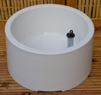 Voetenbak wit keramiek - ronde vorm