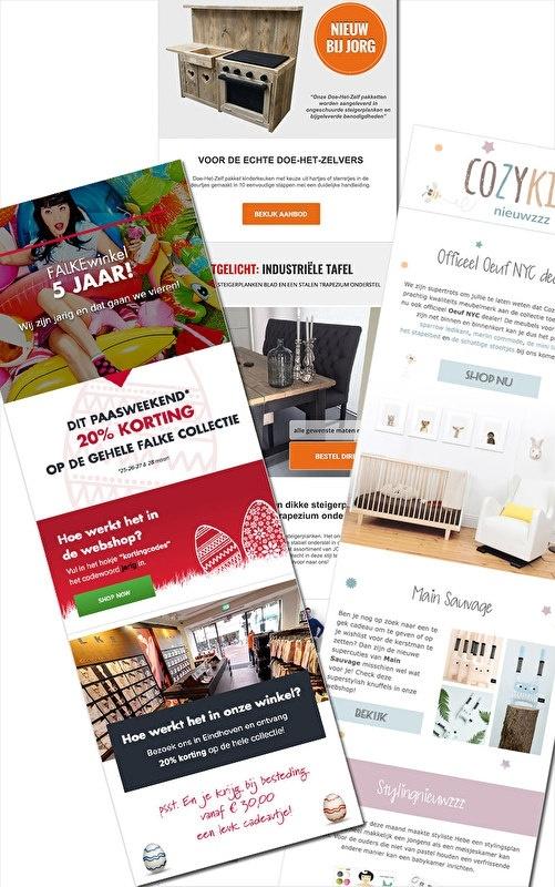 Nieuwsbrief Set-up & ontwerp Mailchimp