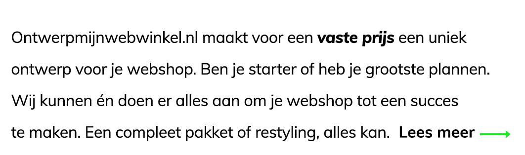 Ontwerpmijnwebwinkel.nl maakt voor een vaste prijs een uniek ontwerp voor je webshop in Mijnwebwinkel