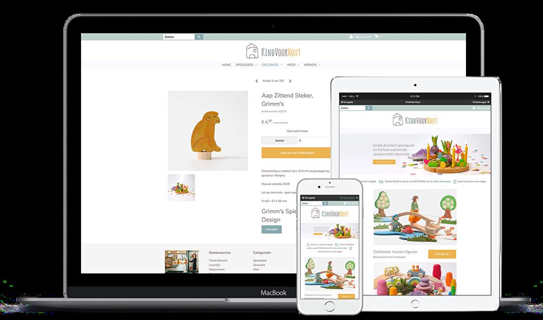 XL pakket incl logo en huisstijl in Mijnwebwinkel > kan ook in Shopify, vraag naar de mogelijkheden