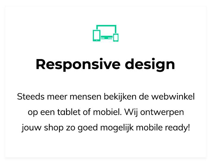 Ontwerp mijn webwinkel responsive design