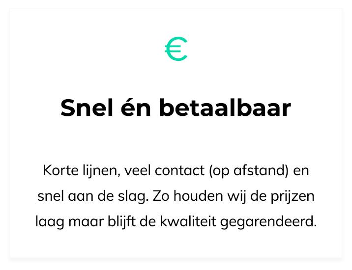 Ontwerpmijnwebwinkel.nl is snel en betaalbaar
