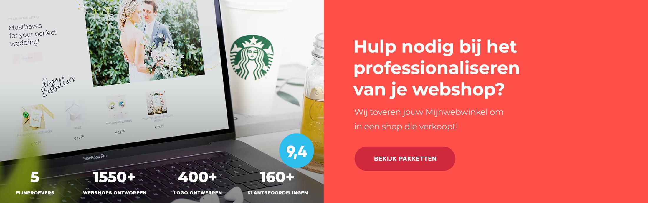 Ontwerp mijn webwinkel - Partner Mijnwebwinkel