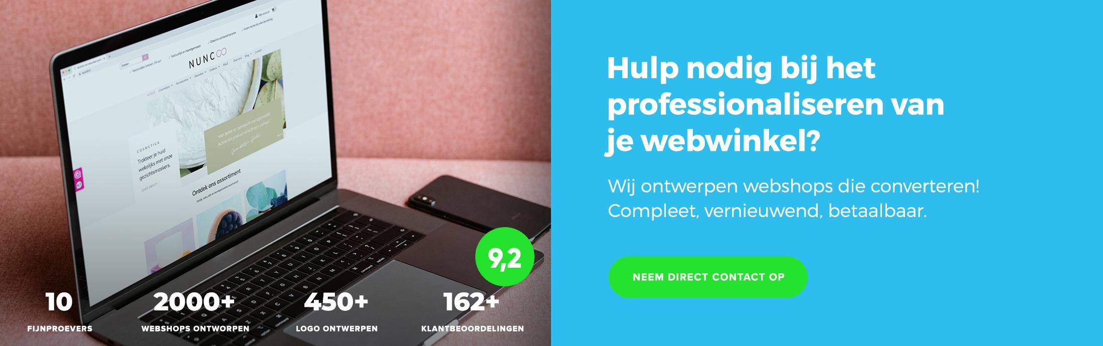 Ontwerpmijnwebwinkel - Mijnwebwinkel & Shopify partner