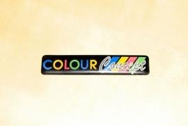 Colour concept embleem zijlijst