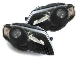 Set koplampen passat 3c zwart koplamp