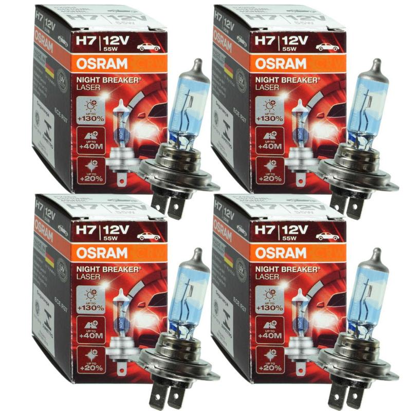 Osram H7 halogeen gloeilamp nightbreaker 4x