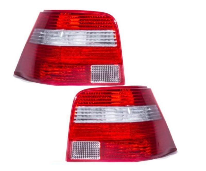 Achterlichten rood/ wit golf 4
