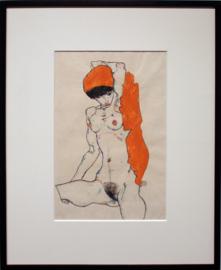 Standing Nude with Orange Drapery