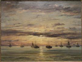 Vissersvloot voor Anker