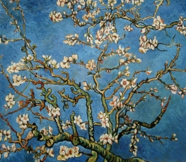 van Gogh reproductie, Amandelbloesem formaat 75 x 90 cm Verkocht!