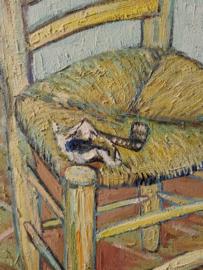 van Gogh reproductie, Vincent z'n stoel met pijp Verkocht!