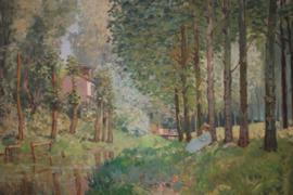 Le Repos au bord du ruisseau Lisiere de bois (detail)