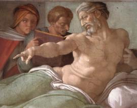 Buonarroti Punishment of Haman (detail)
