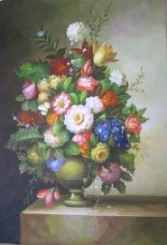 Klassiek bloemen 2 reproductie 60 x 90 cm Verkocht!