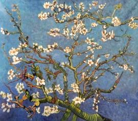 van Gogh reproductie, Amandelbloesem formaat 75 x 90 cm (2) Verkocht!