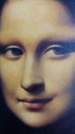 Da Vinci reproductie, Mona Lisa (La Gioconda) formaat 57 x 47 cm Verkocht!