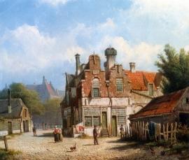 Koekkoek, Dorpsstraat in de zomer