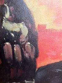 Modigliani reproductie, Portret van Jeanne Hebuterne formaat 60 x 90 cm Verkocht!