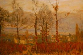 Gezicht op Louveciennes in de herfst