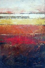 Dekker, Landschap in oker/rood/bruin 3037