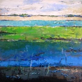 Dekker, Landschap in blauw/groen
