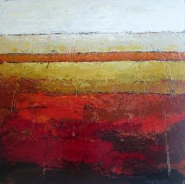 Dekker, Landschap in rood/oker 3040