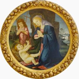 Vierge a l'enfant avec saint Jean Baptiste