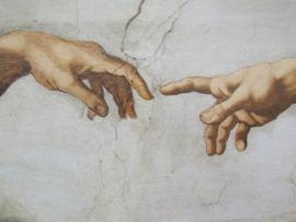 De Schepping (detail) handen