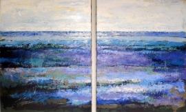 Dekker, Landschap in lila/blauw 3045