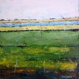 Dekker, Landschap in groen/oker/bruin 3032
