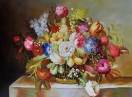 Klassiek Bloemen 5 reproductie 60 x 80 cm Verkocht!