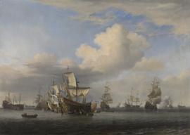 Veroverde Engelse schepen na de Vierdaagse Zeeslag