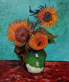 van Gogh reproductie, Zonnebloemen formaat 40 x 50 cm