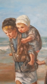 Israels reproductie, Kinderen der Zee formaat 50 x 90 cm Verkocht!